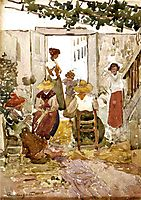 Lacemakers, Venice, c.1899, prendergast