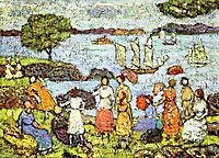 Late Afternoon, New England, c.1918, prendergast