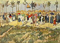 The Lido, Venice, c.1899, prendergast