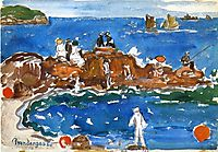 North Shore 3, Massachusetts, c.1910, prendergast