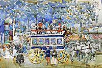 The Paris Omnibus, 1904, prendergast