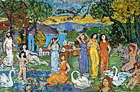 The Picnic, c.1915, prendergast