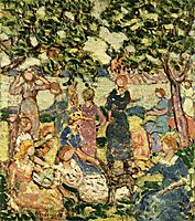 Picnic by the Inlet, c.1923, prendergast