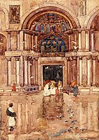 The Porch with the Old Mosaics, St. Mark-s, Venice, c.1899, prendergast