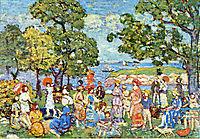 The Promenade, c.1913, prendergast
