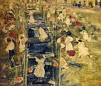 The Race, c.1897, prendergast