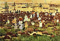 Revere Beach, c.1897, prendergast