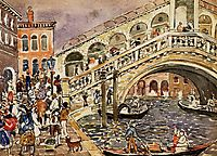 Rialto Bridge (also known as The Rialto Bridge, Venice), c.1912, prendergast
