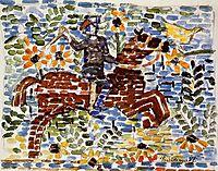 The Rider, c.1915, prendergast