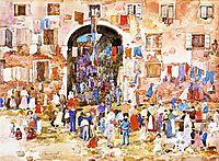 Riva degli Schiavoni, c.1899, prendergast