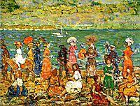 Seashore, c.1913, prendergast