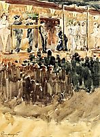Side Show, c.1894, prendergast