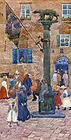 Sienna Column of the Wolf, c.1899, prendergast