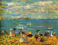 St. Malo (also known as Sketch, St. Malo), c.1907, prendergast