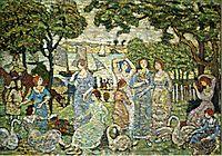 The Swans, c.1915, prendergast