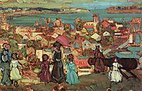 Village by the Sea, c.1913, prendergast