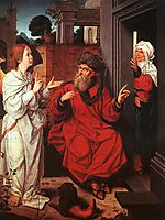Abraham, Sara and an Angel, c.1520, provoost