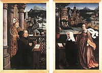 Donor with St. Nicholas and his Wife with St. Godelina, provoost