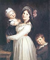 Family portrait of Madame Anthony and her children, 1785, prudhon