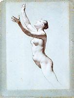 Female nude, prudhon