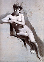 Female Nude Leaning, c.1800, prudhon
