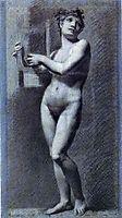 Female nude - Poetry, prudhon