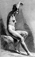 Female Nude Raising her Arm, c.1800, prudhon