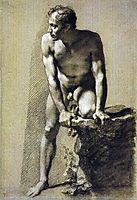 Male nude, prudhon