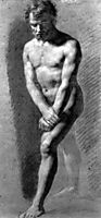 Male Nude Grasping his Wrists, c.1800, prudhon