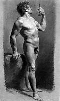 Male Nude Turning, c.1800, prudhon