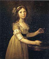 Marguerite-Marie Lagnier, ten years old , 1796, prudhon