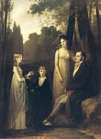 Portrait of Rutger Jan Schimmelpenninck and his family, c.1801, prudhon