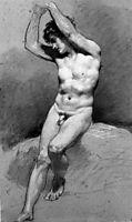 Seated Male Nude, c.1800, prudhon