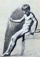 Seated Nude Figure, prudhon