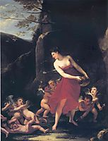 Young Naiad Tickled by the Cupids , prudhon