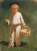 Boy with a basket, pymonenko