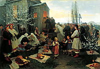 Easter morning prayer in Malorosia , 1891, pymonenko
