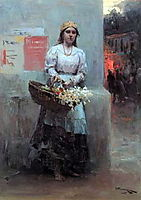Flower-girl, 1908, pymonenko