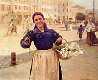 Kiev Flower Girl, pymonenko