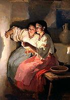 Yuletide fortune tellers , 1888, pymonenko