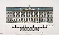 Design for the Smolny Institute in St Petersburg (façade), c.1806, quarenghi