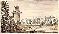 Ruined tower and Orlovsky gate, quarenghi