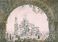 View of the New Jerusalem Monastery near Moscow, 1797, quarenghi