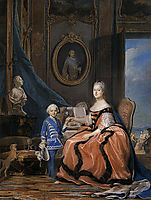 Marie Josephe of Saxony, Dauphine and a son, quentindelatour