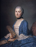 Mary Magdalene Mazade, wife of Antoine Gaspard Grimoldi of Reyniere, quentindelatour