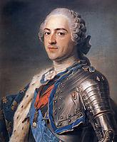 Portrait of King Louis XV , 1748, quentindelatour