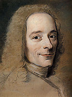 Preparation to the portrait of Voltaire, quentindelatour