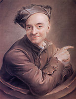 Self-Portrait with the bull-s-eye, quentindelatour