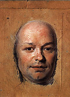 Study for portrait of unknown man, quentindelatour