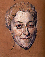 Study for portrait of unknown woman, quentindelatour